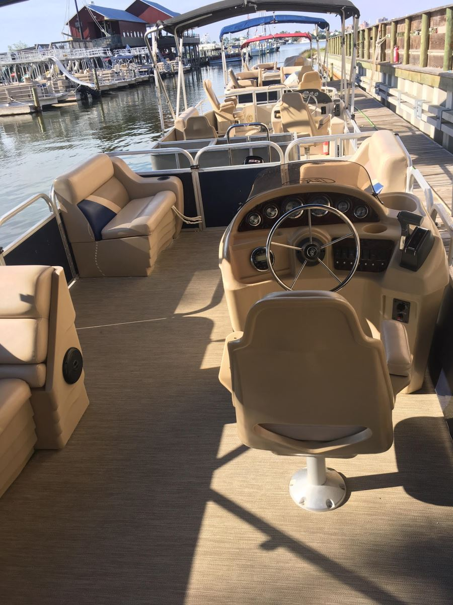 Luxury Interior Pontoon Boat Orange Beach